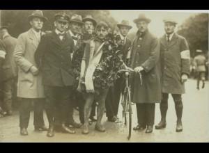 """""""Rund um Berlin, Fotokarte Siegerehrung"""" 1922, Karl Kohl ♥ (7638)"""