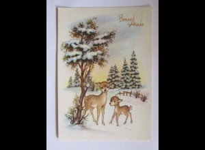 """""""Neujahr, Winterlandschaft, Rehe"""" 1975 ♥"""