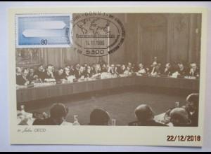 Politik Wirtschaft, 25 Jahre OECD, Sonderkarte 1986 (39728)