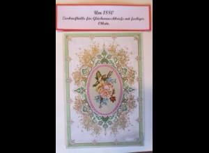 Zierbriefhülle für Glückwunschkarten mit farbiger Oblate 1880 ♥ (12E)