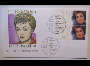 Film Schauspieler, Lilli Palmer FDC 2000 (15432)