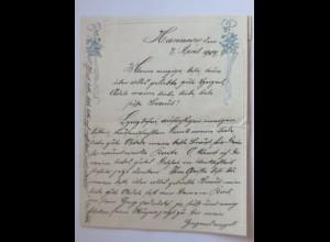 Briefpapier, Zierbriefbogen Jugendstil Motiv, 1907 ♥ (1029)