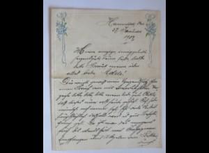 Briefpapier, Zierbriefbogen Jugendstil Motiv, 1907 ♥ (71918)
