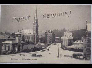 Neujahr, St. Leonhardskirche, St. Gallen, 1906 ♥ (49402)