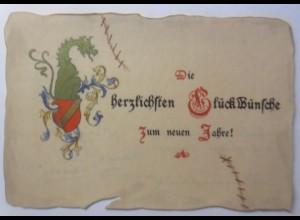 Studentika, Neujahr Karte keine Ansichtskarte, 1897-1898 ♥ (836)