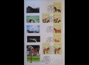 Pferde, 5 FDC Deutschland 1997 (35564)
