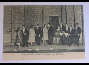 """""""Zirkus, Liliputaner-Gesellschaft, A. Scheuer jun. Hamburg"""" 1910 ♥"""