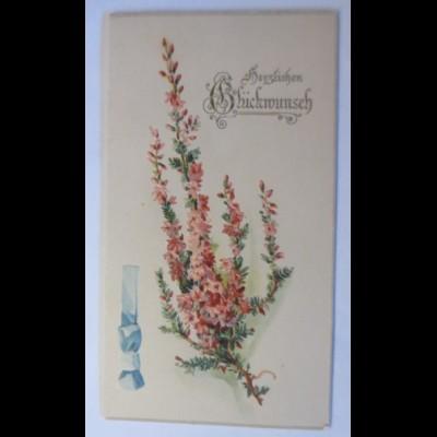 Glückwunschkärtchen, Klappkarte, Geburtstag, Blumen, 1900 ♥ (41042)