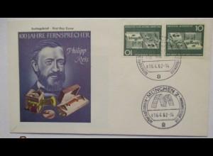 Telefon, Philipp Reis, FDC Deutschland 1962 (19287)