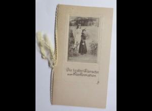 Konfirmation, Schutzengel, Kleine Klappkarte 1900 ♥ (69643)