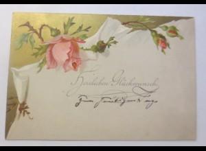 Glückwunschkärtchen aus Karton mit Farblithos, 1884 ♥ (67746)