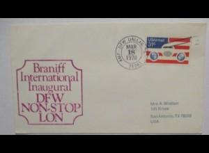 Luftpost Braniff International Airways, Dallas 1978 (31239)