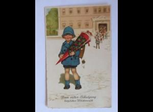 Kinder, Schulanfang, Schule, Zuckertüte, Schultüte, 1930 ♥ (44132)