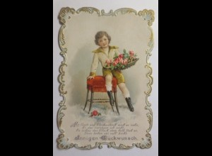 Glückwunschkärtchen, Jugendstil, Kinder, Mode, 1900 ♥ (49694)