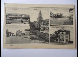 Bebra, Kaiserl. Postamt, Bahnhof, Nürnberger Strasse u.a., 1916