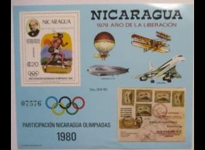 Nicaragua Block 111 Olympia 1980 postfrisch (5764)