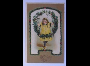 Neujahr, Kinder, Disteln, 1909 ♥ (44147)