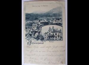 Gruss aus dem Schwarzwald, Schönau, 1902 aus Todtmoos