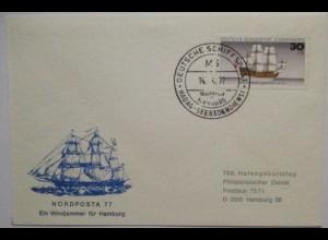 Deutschland Schiffspost MS Wappen von Hamburg, Seebäderdienst (52814)