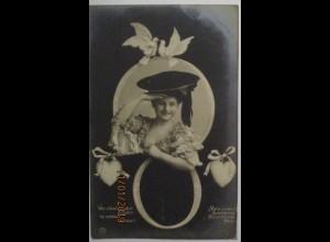 Frauen Fotomontage, Wer schaut aus dem Ringlein so neckisch heraus (51689)