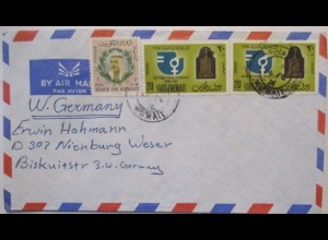 Kuweit, Luftpostbrief nach Nienburg (29765)