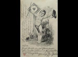 Engel, Amor, Schütze, Pfeil, 1903 ♥ (17161)