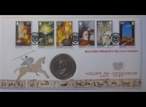 Numisbrief, Royal Mint Official First Day Cover Guernsey 1987 ♥ (72417)