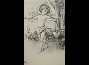 Engel, Amor, Waage, Herz, 1900 ♥ (17165)