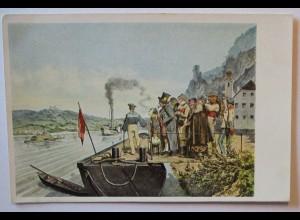 Linz Ankunft des Postdampfers, Bund Deutscher Österreicher (3254)