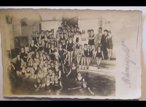 Schwimmen Männer Frauen Kinder Schwimmverein Rheingold Fotokarte 1920 (21838)