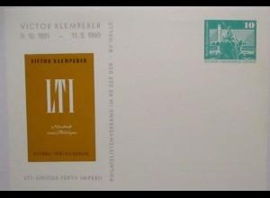 Philologie Philologe Victor Klemperer DDR Privatganzsache 1981 (72258)