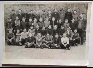 Bayern Kinder Schule Schulklasse von 1951, großes Foto (6325)