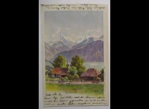 Beatenberg 1900 Künstlerkarte signiert W. Benteli (53019)