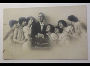 Frauen, Männer, Mode, Nur gegen Bezugschein, 1917 ♥ (32577)