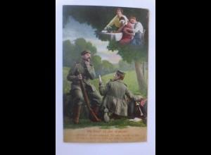 Soldaten im Krieg, Wie könnt ich dein vergessen, 1915, Feldpost (44608)