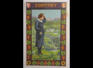 Trachten, Frauen, Conthey, 1929 ♥ (61235)
