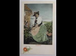Trachten, Frauen, Vaudoise, Schweiz, 1900 ♥ (61088)