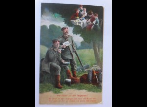 Soldaten im Krieg, Wie könnt ich dein vergessen, 1915, Feldpost ♥