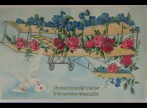 """""""Flugzeug, Tauben, Rosen, Vergissmeinnicht"""" 1907 ♥"""