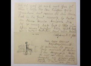 Glückwunschkärtchen, Geburtstag, 12,5 cm x 6,5 cm, Jahr 1910 ♥ (14F)