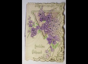 Glückwunschkärtchen zum Geburtstag 14 cm x 9 cm, Jahr 1900 ♥ (16690)