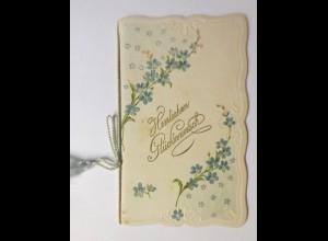 Glückwunschkärtchen zum Geburtstag 12 cm x 7,5 cm, Jahr 1900 ♥ (36761)