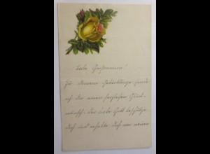 Zierbriefbogen, Briefpapier, Oblaten, 18 cm x 11,5 cm, Jahr 1890 ♥ (19F)
