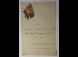 Zierbriefbogen, Briefpapier, Oblaten, 22 cm x 14 cm, Jahr 1887 ♥ (25F)