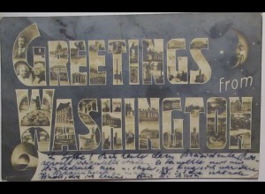 Greetings from Washington , Text über Treffen mit Theodor Roosevelt 1905 (58694)