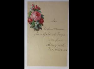 Zierbriefbogen, Briefpapier, Geburtstag, Oblate,18 cm x 11,5 cm, Jahr 1885♥(30F)