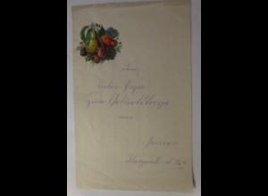 Zierbriefbogen, Briefpapier, Geburtstag, Oblate,22 cm x 13,5 cm, Jahr 1884♥(31F)