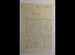 Zierbriefbogen, Briefpapier, Geburtstag, 21 cm x 13,5 cm, Jahr 1875 ♥ (34F)