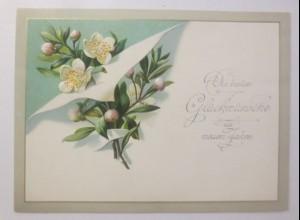Glückwunschkärtchen Neujahr 11,5 cm x 8,5 cm, Jahr 1902 ♥ (19179)