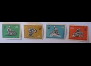 Vignetten 4 Marken Postfrisch, Motorrad Sechstagefahrt, DDR 1964 ♥ (70352)